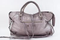 Balenciaga Purple Shoulder Leather  Bag