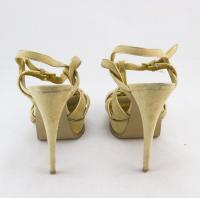 YVES SAINT LAURENT platform T-strap heels Sz: 8 Angle2