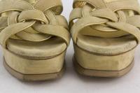 YVES SAINT LAURENT platform T-strap heels Sz: 8 Angle5