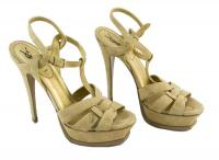 YVES SAINT LAURENT platform T-strap heels Sz: 8 Angle1