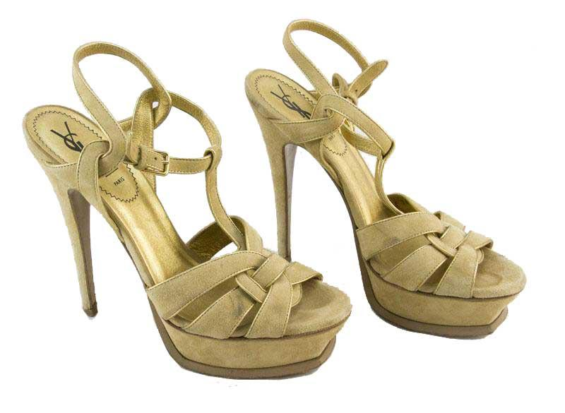 YVES SAINT LAURENT platform T-strap heels Sz: 8