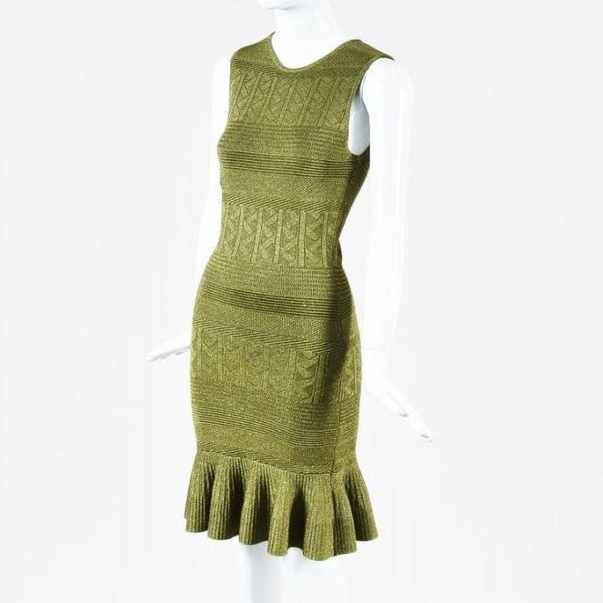 "Ronny Kobo Stretch Knit ""Portia"" Flounce Dress"