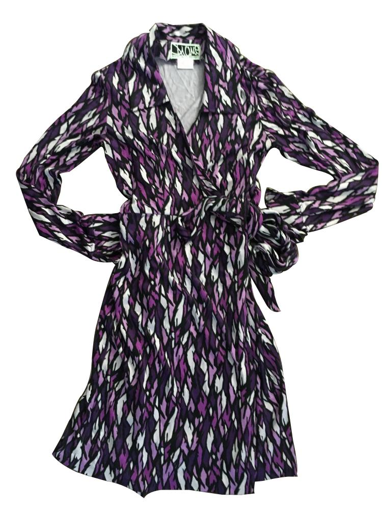 Diane Von Furstenberg silk jersey knit wrap dress