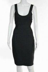 Herve Leger Knit Bandage Body Con Dress