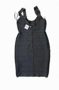 Herve Leger Knit Bandage Body Con Dress  Angle5