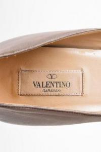 Valentino Pyramid Stud Taupe Pumps Angle5