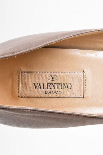 Valentino Pyramid Stud Taupe Pumps