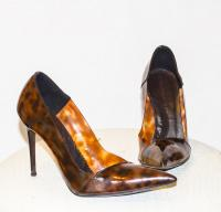 Stella McCartney Brown Scarpa heel Angle1