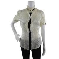 DVF ruffle silk blouse with darts