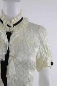 DVF ruffle silk blouse with darts Angle2