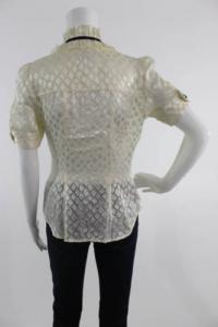 DVF ruffle silk blouse with darts Angle5