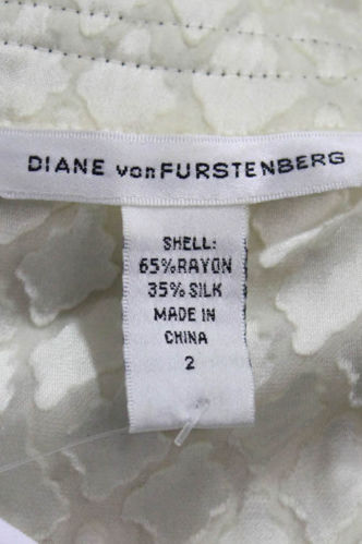 DVF ruffle silk blouse with darts