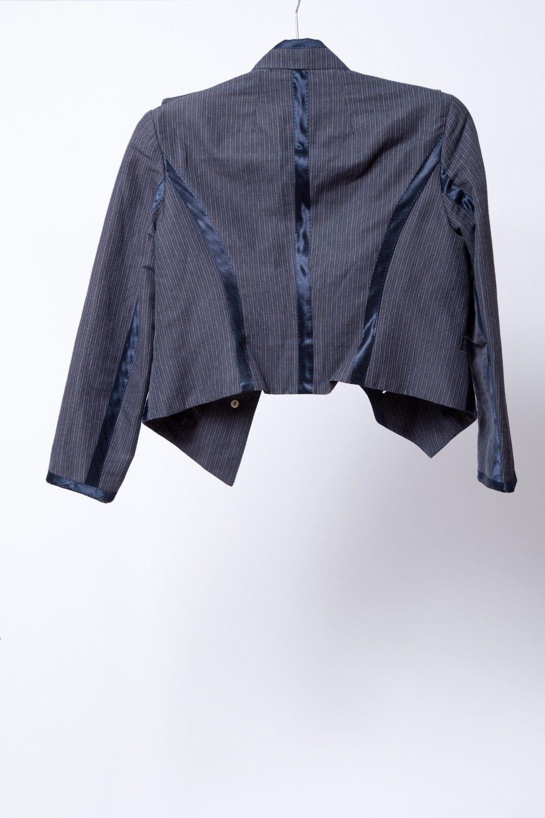 PHILLIP LIM Navy Pinstripe Blazer