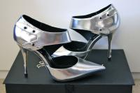 Elizabeth and James Silver side strap pump