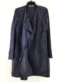 DVF Yvette jean draped trench