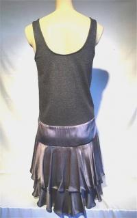 DVF Wool Roberta Jean Grey dress 6 medium Angle2