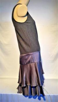 DVF Wool Roberta Jean Grey dress 6 medium Angle3