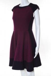 Ted Baker Plum Purple Pink Wool Cap Sleeve Dress Angle2