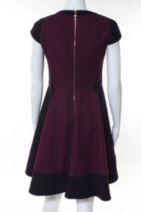 Ted Baker Plum Purple Pink Wool Cap Sleeve Dress Angle3