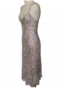 DVF Jeddah Silk Chiffon Long Dress Like new! Angle1