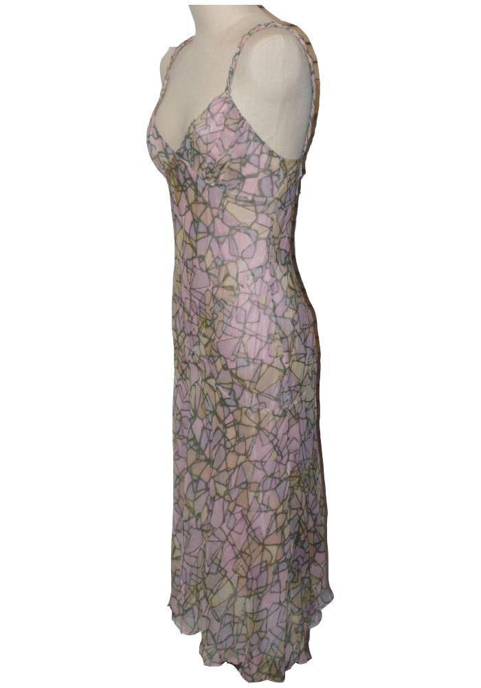 DVF Jeddah Silk Chiffon Long Dress Like new!