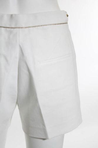 Phillip Lim white shorts gold trim
