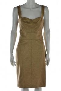 DVF Gold Dress Knee Length Sleeveless