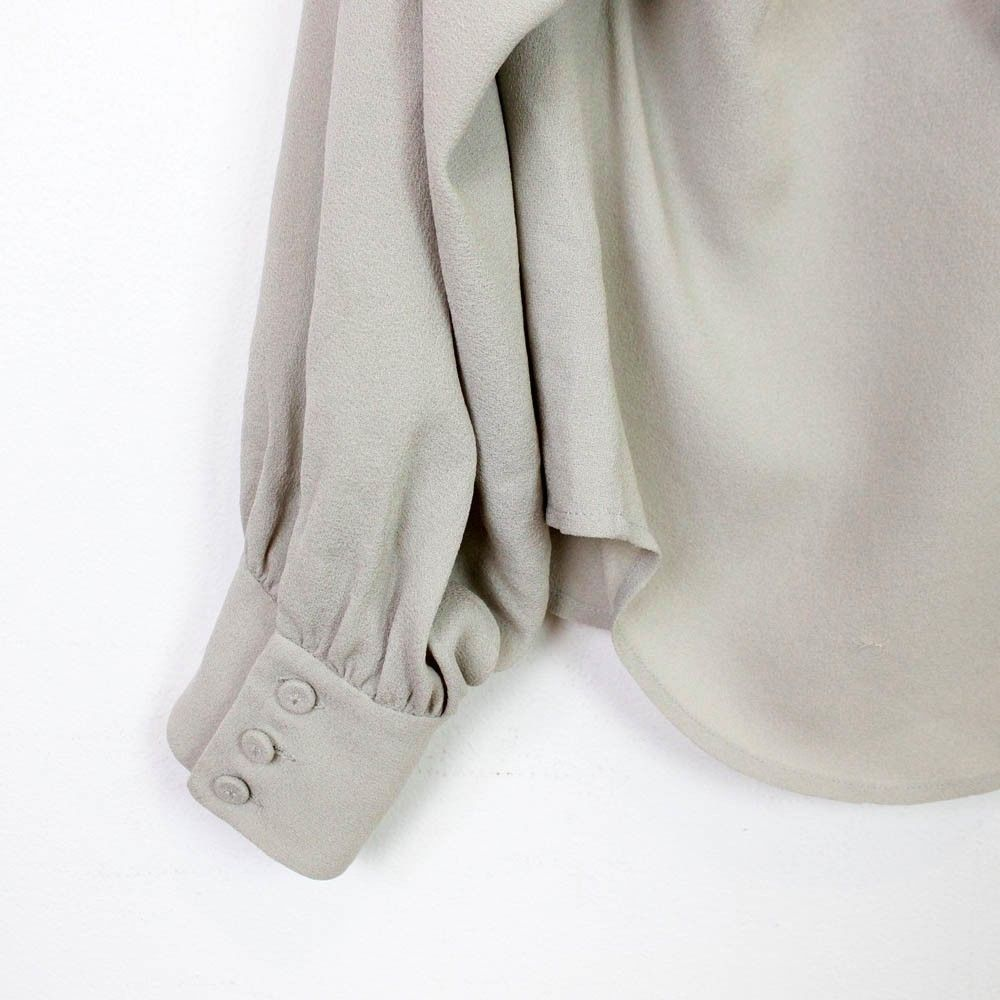 Phillip lim crepe top with ruffles