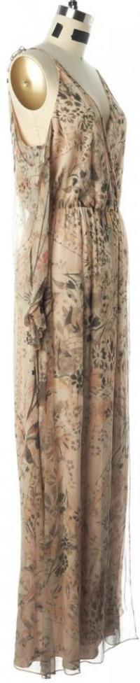 HAUTE HIPPIE NWT Floral Silk Wrap Dress Size M Angle3