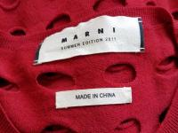 NEW MARNI SUMMER RED CUT OUT SHEER THIN SWEATER CA Angle5