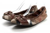 BURBERRY Brown Nova Buckle Elastic Ballet Flats 6. Angle1