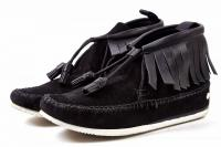 RAG & BONE Black Suede Leather Moccasin Size 8 Angle2
