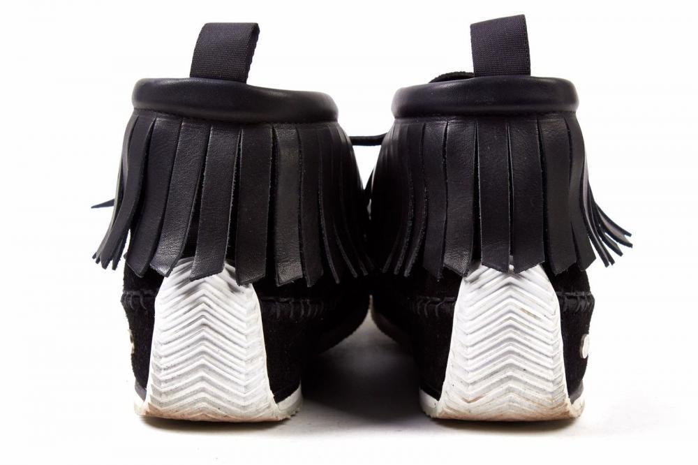 RAG & BONE Black Suede Leather Moccasin Size 8