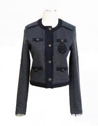 Haute Hippie Gray military blazer