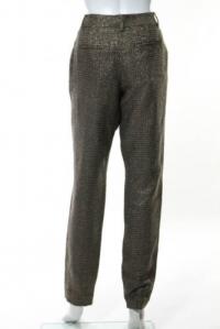 DVF Gold Long Georginne Zip Skinny Pants Size 4 Angle3