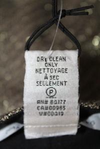 DVF Gold Long Georginne Zip Skinny Pants Size 4 Angle4