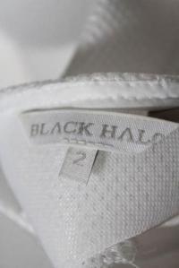 Black Halo White Mesh Square Neck Sleeveless A Lin Angle5