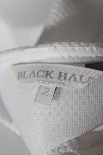 Black Halo White Mesh Square Neck Sleeveless A Lin
