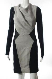 Helmut Lang color block drape dress Angle1