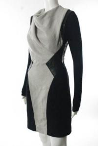 Helmut Lang color block drape dress Angle2
