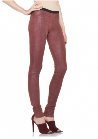 Helmut Lang red stretched LEATHER pants