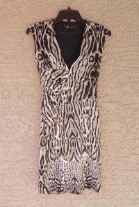 CAVALLI ANIMAL PRINT STRETCH JERSEY DRESS, 2 US, N Angle2