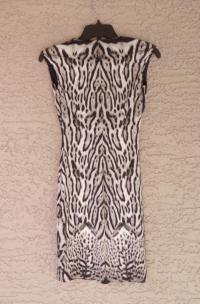 CAVALLI ANIMAL PRINT STRETCH JERSEY DRESS, 2 US, N Angle3