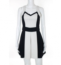 Robert Rodriguez Black White A Line Dress Size 4 Angle1