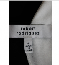 Robert Rodriguez Black White A Line Dress Size 4 Angle4