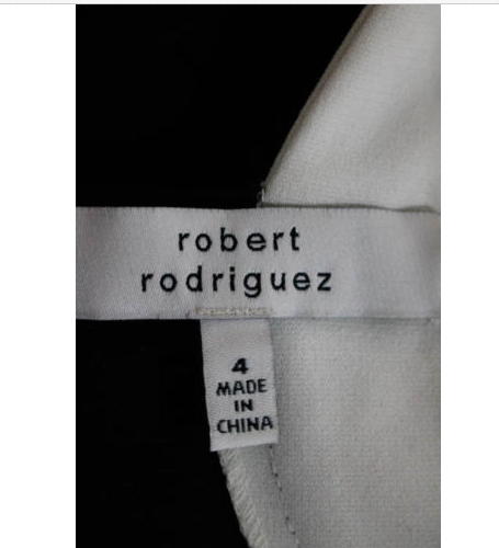 Robert Rodriguez Black White A Line Dress Size 4