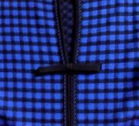 M MISSONI BLUE/BLACK CHECK PRINT KNIT DRESS, US 4 Angle2