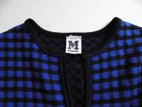 M MISSONI BLUE/BLACK CHECK PRINT KNIT DRESS, US 4 Angle5