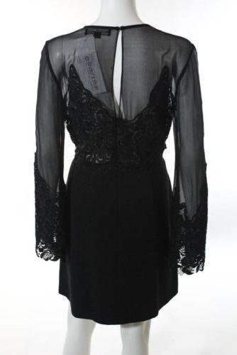 Jill Stuart Black Black Illusion Lace Dress