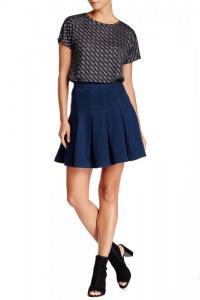 DVF NEW Blue Women's 14 'Gemma' Pleated Skirt